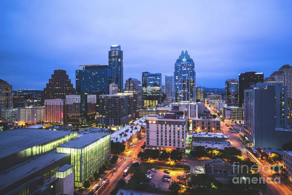 Wall Art - Photograph - Austin Skyline At Night by Paul Velgos