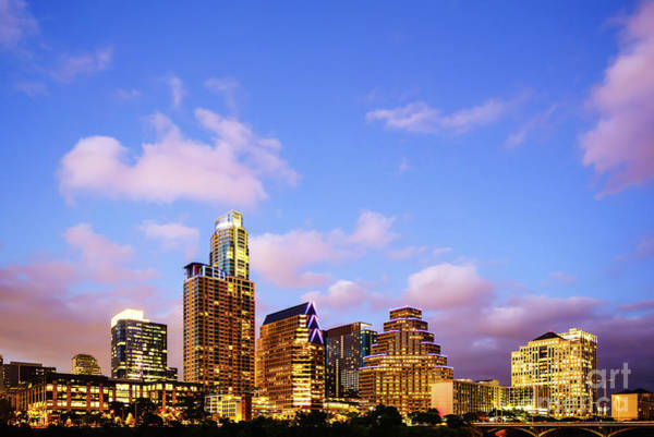 Downtown Austin Photograph - Austin Skyline At Twilight by Paul Velgos