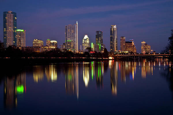 City Scape Photograph - Austin Skyline by Mark Weaver