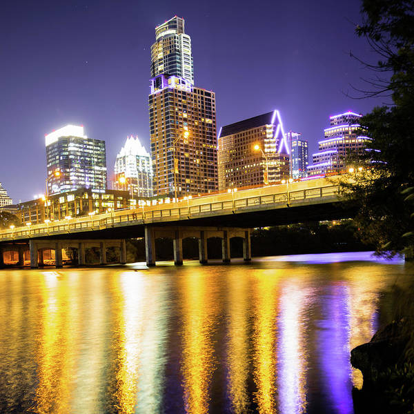 Photograph - Austin Square Format Skyline At Dusk by Gregory Ballos