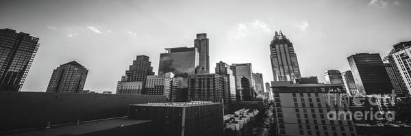 Downtown Austin Photograph - Austin Texas Black And White Panorama by Paul Velgos