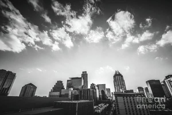 Downtown Austin Photograph - Austin Texas Black And White Photography by Paul Velgos