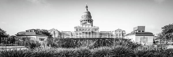Texas Capitol Photograph - Austin Texas State Capitol Building Panorama by Paul Velgos