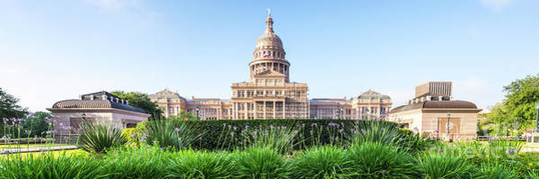 Texas Capitol Photograph - Austin Texas State Capitol Panorama by Paul Velgos
