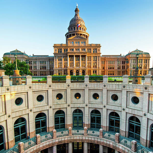 Photograph - Austin Texas Usa State Capitol - Color Edition - 1x1 by Gregory Ballos