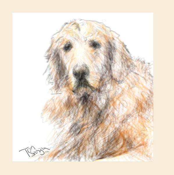Golden Retriever Digital Art - Austin by Thomas Suchyta