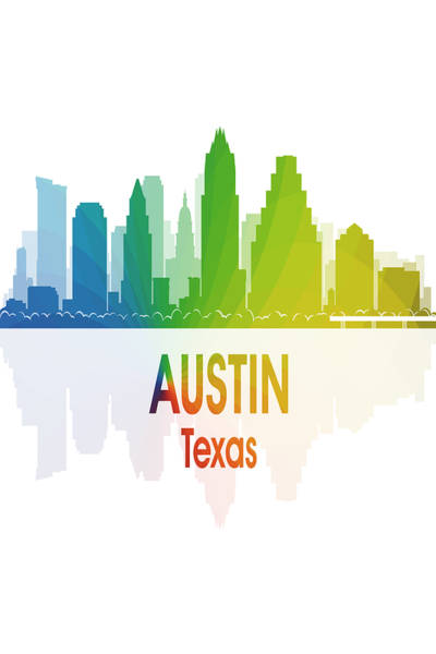 Digital Art - Austin Tx 1 Vertical by Angelina Tamez