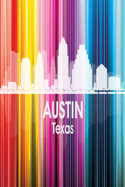 Wall Art - Digital Art - Austin Tx 2 Vertical by Angelina Tamez