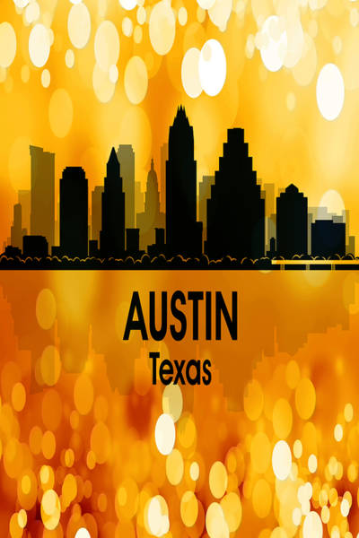 Wall Art - Digital Art - Austin Tx 3 Vertical by Angelina Tamez
