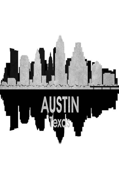 Wall Art - Digital Art - Austin Tx 4 Vertical by Angelina Tamez