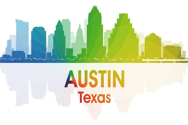 Digital Art - Austin Tx by Angelina Tamez