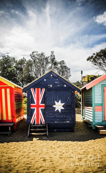 Wall Art - Photograph - Australia Bathing Boxes by Jorgo Photography - Wall Art Gallery