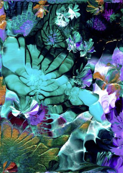 Painting - Australian Emerald Begonias by Nan Bilden