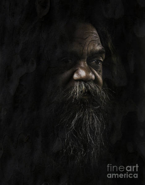 Wall Art - Photograph - Australian Full Blood Aborigine by Sheila Smart Fine Art Photography