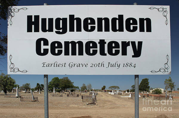 Burried Photograph - Australian Graveyard by Christian Hallweger