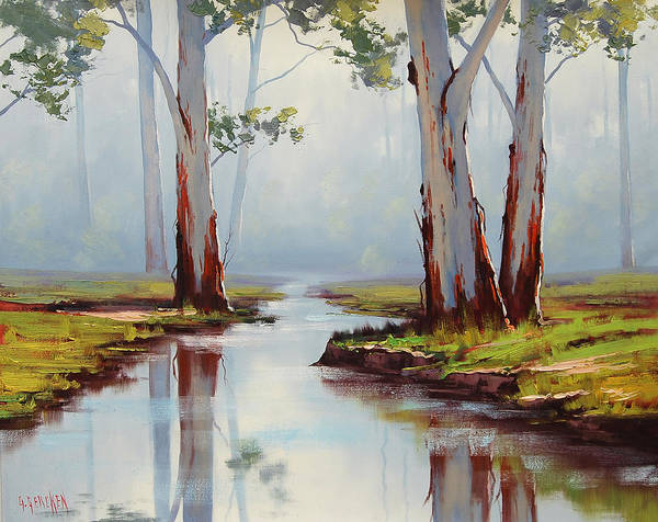 Old Tree Painting - Australian Gum Trees by Graham Gercken