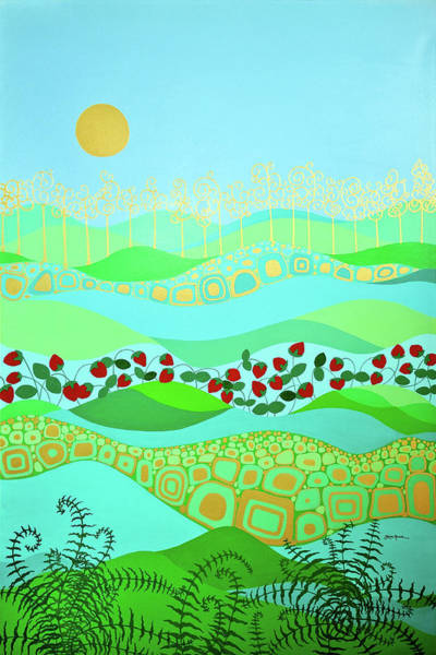 Painting - Australian Moonscape by Linda Rauch