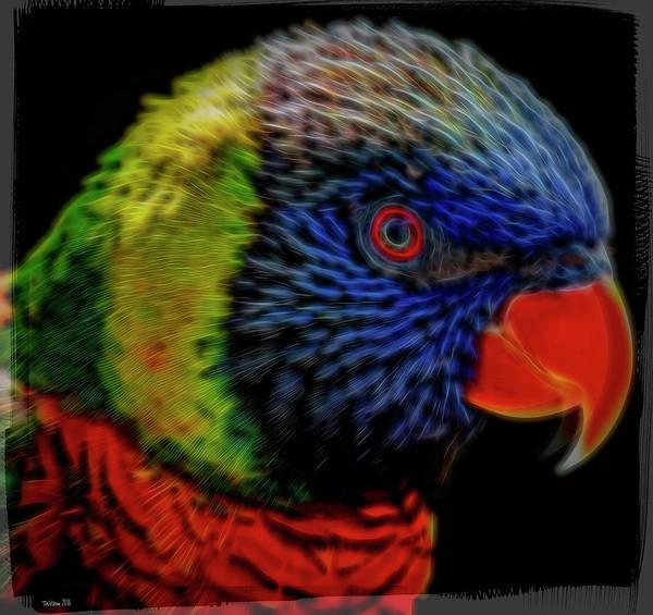Australian Rainbow Lorikeet - Artistic Art Print