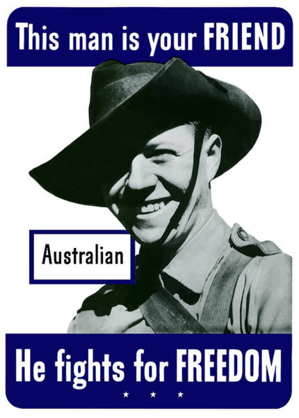 Wall Art - Painting - Australian This Man Is Your Friend  by War Is Hell Store