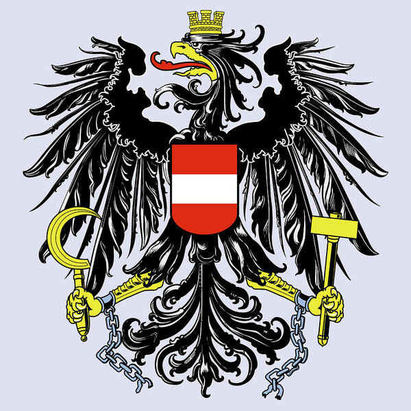 Drawing - Austria Coat Of Arms by Movie Poster Prints