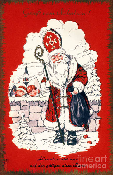 Flk Photograph - Austrian Christmas Card by Granger
