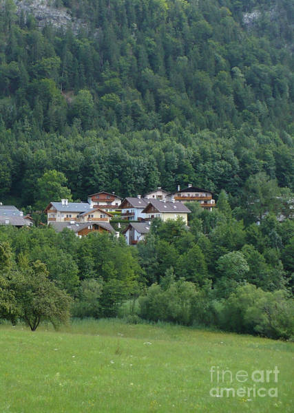 Photograph - Austrian Houses Tucked In Hillside by Carol Groenen
