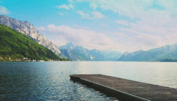 Painting - Austrian Mountain Lake Eur855052 by Dean Wittle