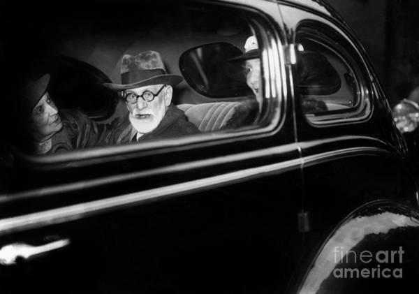 Passenger Car Photograph - Austrian Psychoanalyst Sigmund Freud In Paris In June 1938 by French School