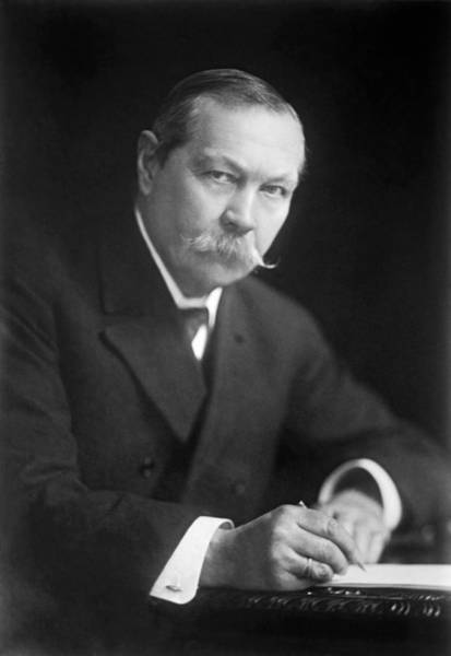 Conan Photograph - Author Sir Arthur Conan Doyle by Underwood Archives