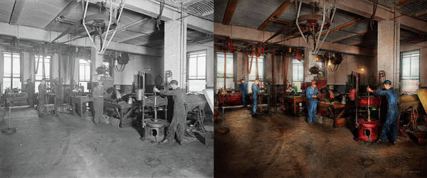 Photograph - Autobody - The Bodyshop 1916 - Side By Side by Mike Savad