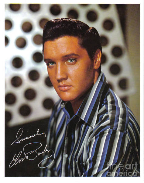 Wall Art - Painting - Autographed Elvis by Pd