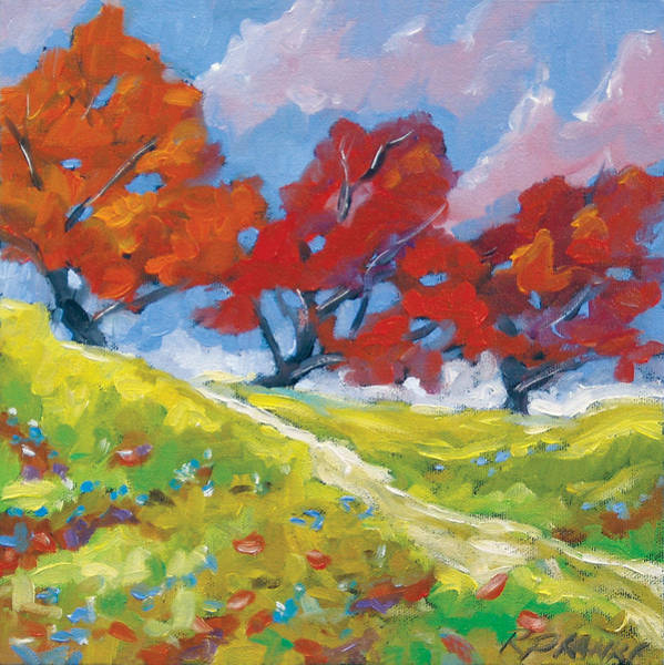 Canadiens Painting - Automn Trees by Richard T Pranke