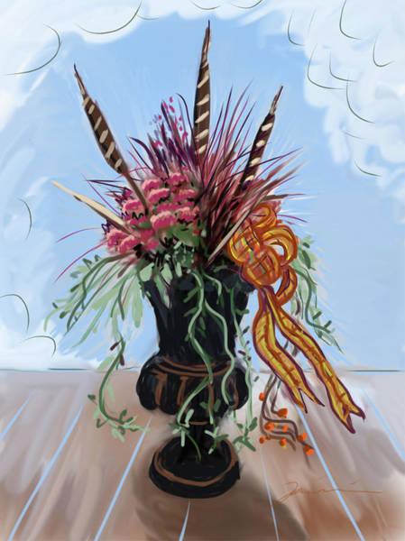 Painting - Automne Jardiniere by Jean Pacheco Ravinski
