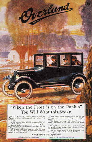 Photograph - Automobile Ad, 1920 by Granger