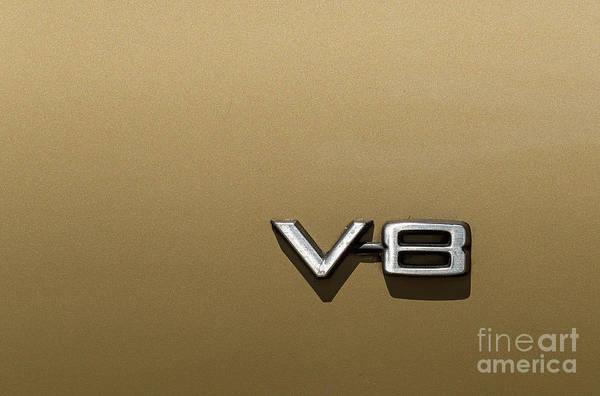 Photograph - Automotive V8 Sign by Les Palenik