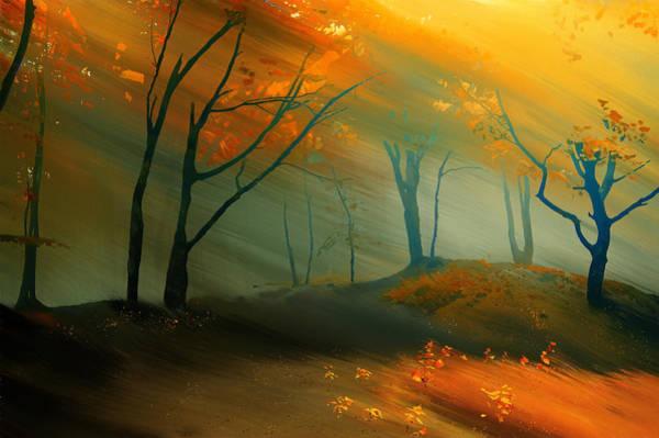 Elliott Digital Art - Autumn Forest by Chris Elliott