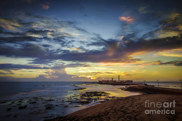Photograph - Autum Skies Over La Caleta Cadiz Spain  by Pablo Avanzini