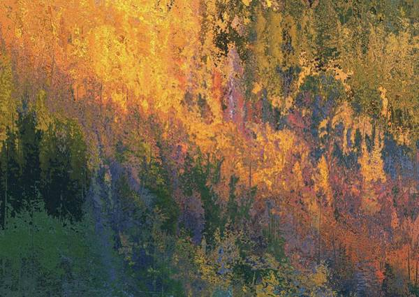 Fall Colors Mixed Media - Autumn Abstract Number 4 by Dan Sproul
