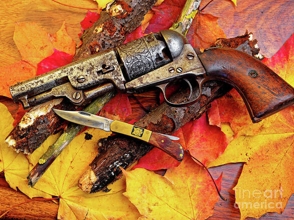 Cowboy Action Shooting Photograph - Autumn Antiques by Wilf Doyle
