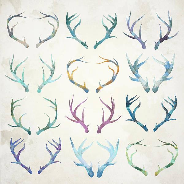 Antlers Digital Art - Autumn Antlers by Spacefrog Designs