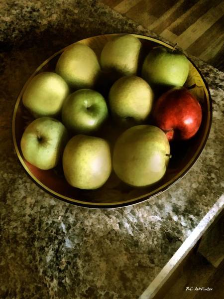 Digital Art - Autumn Apples by RC DeWinter