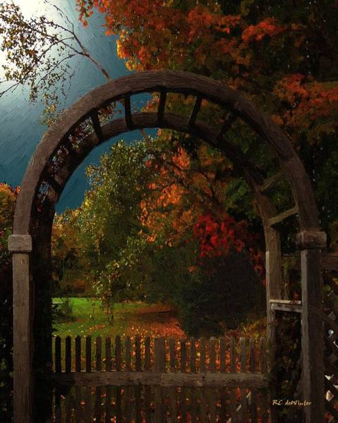 Painting - Autumn Archway by RC DeWinter