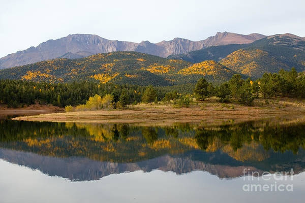 Photograph - Autumn Aspen At Crystal Creek Reservoir Pikes Peak by Steve Krull
