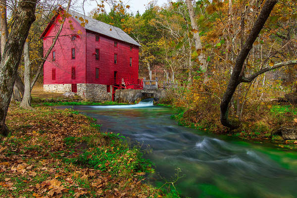 Riverway Photograph - Autumn At Alley Spring by Jackie Novak