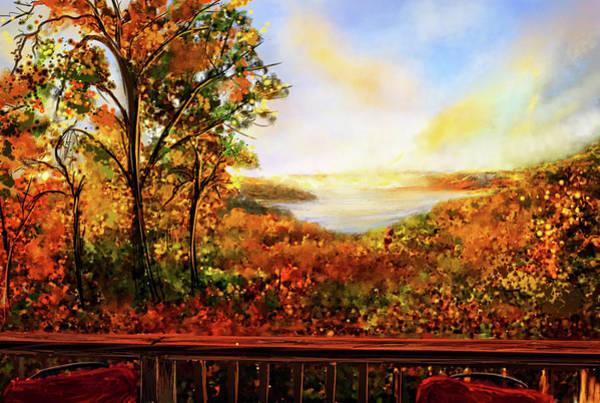 Painting - Autumn At Beaver Lake -beaver Lake Art by Lourry Legarde