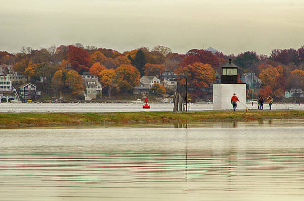 Photograph - Autumn At Derby Lighthouse by Jeff Folger