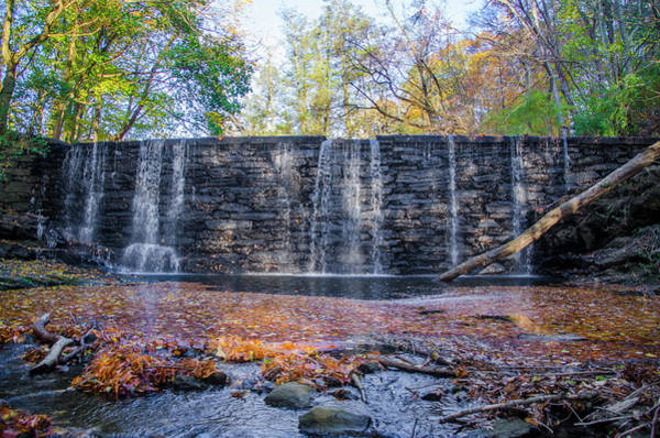 Photograph - Autumn At Dove Lake Waterfall - Gladwyne Pa by Bill Cannon
