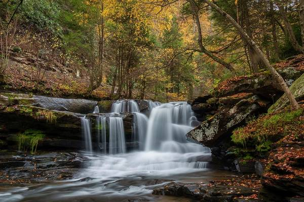 Photograph - Autumn At Dunloup Creek Falls by Chris Berrier