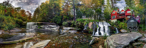 Mill Shoals Falls Wall Art - Photograph - Autumn At Elysium Falls by Stacy Redmon