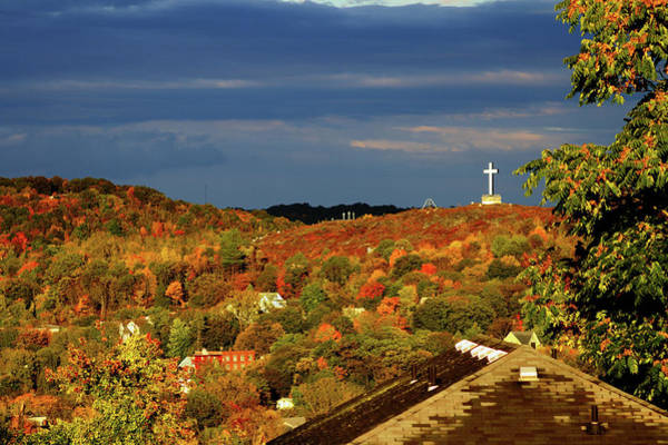 Waterbury Photograph - Autumn At Holy Land, Waterbury Connecticut Usa by Skyelyte Photography by Linda Rasch